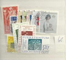 1965 USED Liechtenstein,Year Collection, Complete According To Michel, Gestempeld - Gebruikt