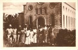 POSTAL DE LAS CAROLINAS Y MARIANAS DE LA CATEDRAL DE PONAPE (MISION-MISIONES) (MATEU.S.A) - Mariannes
