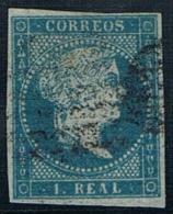 1855 - Edifil 41 1 Real Filigrana Lazos Precioso - 1850-68 Kingdom: Isabella II
