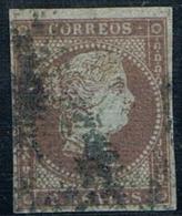 1855 - Edifil 42 2 Reales Filigrana Lazos Bonito - 1850-68 Kingdom: Isabella II