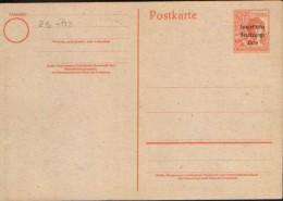 Germany/Soviet Zone -  Postal Stationery  Postcard With Overprint Unused - P32/I - Sowjetische Zone (SBZ)
