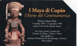I MAYA DI COPAN-SCHEDA TELEFONICA LIRE 10000-TIRATURA -31-12-1999 - Italia