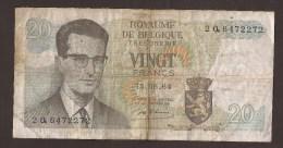 België Belgique Belgium 15 06 1964 20 Francs Atomium Baudouin. 2 Q 6472272 - [ 6] Treasury