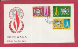 BOTSWANA, 1968 Mint FDC, Human Rights MI40-42, F3602 - Botswana (1966-...)