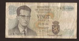 België Belgique Belgium 15 06 1964 20 Francs Atomium Baudouin. 2 Q 7214080 - [ 6] Schatzamt