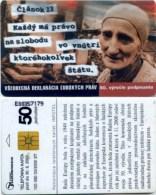 Telefonkarte Slowakei - Menschenrechte- Aufl. 100000 - 03/2000 - Slowakei