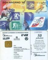 Telefonkarte Slowakei - Sport - Nagano 1998 - Aufl. 100000 - 20/97 - Slowakei