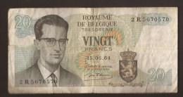 België Belgique Belgium 15 06 1964 20 Francs Atomium Baudouin. 2 R 5670570 - 20 Francs