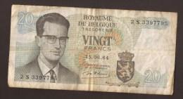 België Belgique Belgium 15 06 1964 20 Francs Atomium Baudouin. 2 S 3397795 - [ 6] Treasury