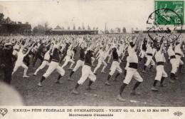 VICHY 39 EME FETE FEDERALE DE GYMNASTIQUES 10 11 12 ET 13 / 05 1913 MOUVEMENT D'ENSEMBLE - Vichy