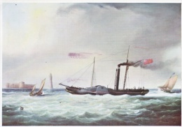 POST CARD   IRISH   PACKET BOAT  ENTERING THE  MERSEY  1831 - Ireland