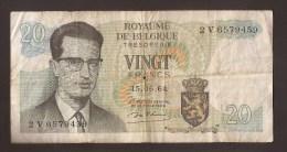 België Belgique Belgium 15 06 1964 20 Francs Atomium Baudouin. 2 V 6579459 - [ 6] Treasury