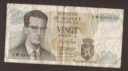 België Belgique Belgium 15 06 1964 20 Francs Atomium Baudouin. 2 W 8388585 - [ 6] Treasury