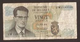 België Belgique Belgium 15 06 1964 20 Francs Atomium Baudouin. 2 W  1193350 - [ 6] Treasury