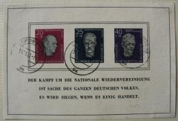 Allemagne Orientale 1958 - Hommage Aux Leaders Socialistes - Oblitéré 14/11/58 - Blocks & Kleinbögen