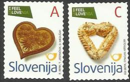SI 2013- NEW DEFINITIVE REPRINT IN CZ, SLOVENIA, 1 X 2v SELBSTICK, MNH - Ernährung