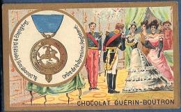 Chromo Chocolat Guerin-Boutron Décorations Françaises Et étrangères Angleterre Ordre De La Jarretière Edouard III Roi - Guerin Boutron