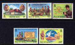 GB ISLE OF MAN IOM - 1982 SCOUTS & SCOUTING 75th ANNIVERSARY SET (5V) FINE MNH ** SG 211-215 - Scouting