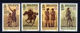 GB ISLE OF MAN IOM - 1976 AMERICAN REVOLUTION BICENTENARY SET (4V) FINE MNH ** SG 75-78 - Us Independence