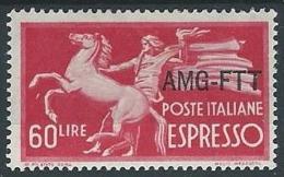 1950 TRIESTE A ESPRESSO 60 LIRE MH * - ED290-2 - 7. Triest