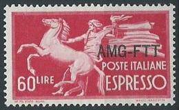 1950 TRIESTE A ESPRESSO 60 LIRE MH * - ED291-2 - 7. Triest