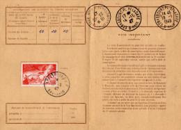 Cartes D´Abonnement Aux TP Spéciaux Français Du 18/9/1947  Tàd De Strasbourg RP S/TP 200 Frs PA - Covers & Documents