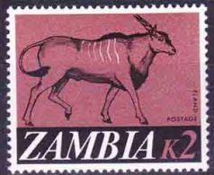 Zambia - 1968 - Definitive - 2k, Eland Antelope - Gibier