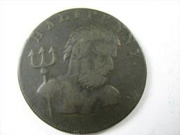 1794    HALFPENNY  PAYABBLE ANTIQUE Whale Fishery   J   Fowler London Coin  LOT 24 NUM 14 - Grande-Bretagne