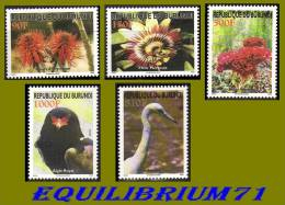 1156/1160** Faune & Flore/ Fauna & Flora - BURUNDI - 2000-09: Mint/hinged