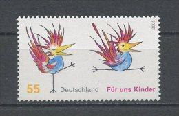 ALLEMAGNE 2005  N° 2311 ** Neuf = MNH Superbe   Cote 1,70 € Faune Oiseaux Birds Fauna Animaux Coq Enfants Children - [7] Federal Republic