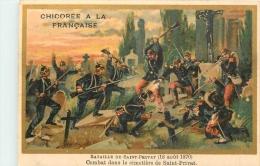 CHROMO DOREE CHICOREE A LA FRANCAISE BATAILLE DE SAINT PRIVAT  VOIR LES DEUX SCANS - Sonstige