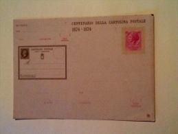 CENTENARIO DELLA CARTOLINA POSTALE 1874-1974 NON VIAGGIATA T - Poste & Postini