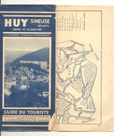 HUY , Dépliant Touristique Avec Plan De La Ville,histoire, Excursions,.. 1938 .(b145) - Advertising