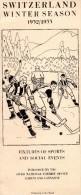 Programme Saison 1932.1933 Hockey Suisse 16 Pages Parfait Etat - Libri