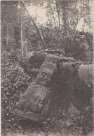 Cpa  Cambodge    Angkor Thom   Tete De Geant Polycephale ( Art Khmer) - Kambodscha