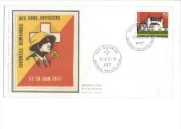 Journée Romande Des Sous-officiers Genève 17.06.1977 - FDC