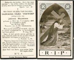 B.P.  MOLL   VERWIMP  LEOCADIA 1873 - RETHY 1915 - Religion & Esotericism