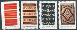 USA 2005 Rio Grande Blankets  Set Of 4 X 37c USED SC 3926-29 YV 3666-3669 MI 3954-57 SG 4454-57 - Etats-Unis
