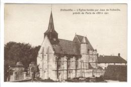 CPSM FOLLEVILLE (Somme) - L'église Fondée Par Jean De Folleville Prévot De Paris De 1388 à 1401 - Other Municipalities