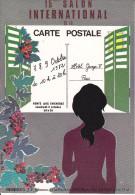 CPSM 15 EME SALON GEORGES V PARIS 1982 DESSIN JEUDY N° 1014 - Borse E Saloni Del Collezionismo
