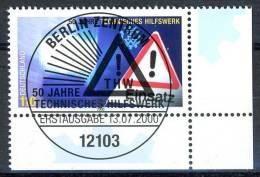 A12-05-5) BRD - Mi 2125 ECKE REU - Zentrisch OO Gestempelt (A) - 110Pf   THW - Oblitérés