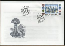 SLOVENSKO  -  FDC  -  5 YEARS SLOVAK REPUBLIC - FDC