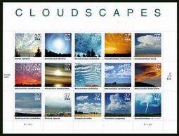 USA 2004 Clouds Sheet Of 15 Stamps  $ 6.60 MNH SC 3878sp YV BF-3586-3600 MI B-3865-79 SG MS4381-95 - Sheets