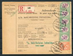1929 Finland Lahti Adresskort - O/Y Savo-Karjalan Tukkuliike, Viipuri / Asiapapereita - Finland