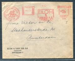 1949 Netherlands Amsterdam Blom & Van Der AA / Assurantien Assurance Franking Machine Freistempel Cover - Period 1949-1980 (Juliana)