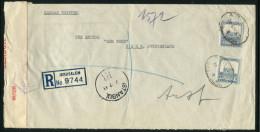 1941 Palestine Jerusalem Registered Censor Cover -  'Der Bund' Bern, Switzerland Via Haifa, Ankara, Istanbul, Turkey - Palestine