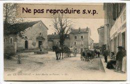 - 415 - Saint-Martin En Vercors - La Mairie, Hôtel, Attelages, Chevaux, Vaches, Belle Animation, Non écrite, TBE, Scans. - France