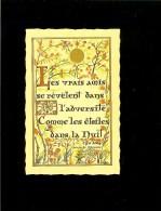 Ed Roussel L25 Chu Meg Proverbe Chinois : Les Vrais Amis Se Révèlent Dans L´adversité Comme  Les étoiles Dans La Nuit - Cartes Postales