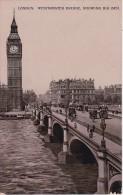 PC London - Westminster Bridge, Showing Big Ben - 1932 (4122) - Houses Of Parliament