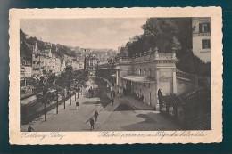 REPUBBLICA CECA KARLOVY VARY CARTOLINA FORMATO PICCOLO VIAGGIATA NEL 1932 - Repubblica Ceca